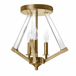 Griffin 3-Light Semi Flush Mount by Willa Arlo Interiors
