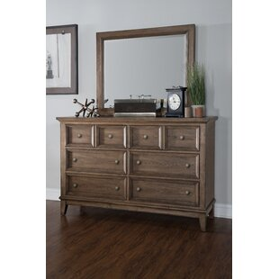 Forest Hills 8 Drawer Double Dresser with Mirror by Legacy Classic Furniture