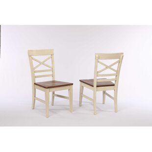 Hayden X Back 2 Tone Dining Chair (Set Of 2) by Ophelia & Co. Great Reviews