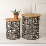 Tressa Drum Nesting Tables (Set of 2) by Gracie Oaks