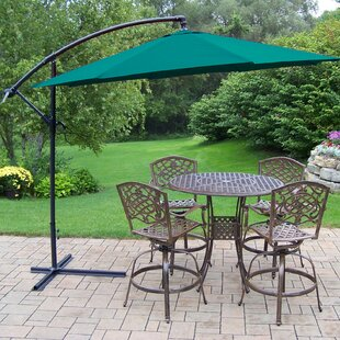 Elite Mississippi Swivel 5 Piece Bar Height Dining Set with Umbrella