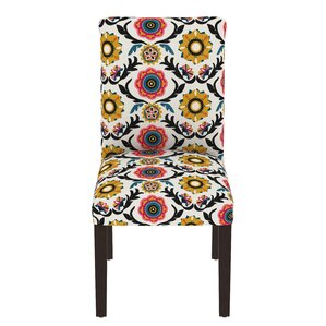 Dominique Floral Parsons Chair by Mistana