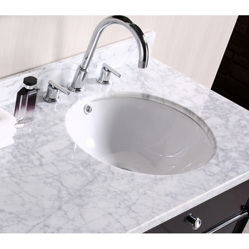 American Imaginations Ceramic Circular Undermount Bathroom Sink With Overflow Reviews Wayfair