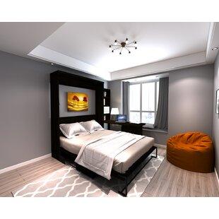 Brass Cannon Desk Queen Storage Murphy Bed by Brayden Studio