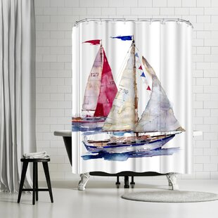 Price Check Harrison Ripley Yachts Shower Curtain By East Urban Home