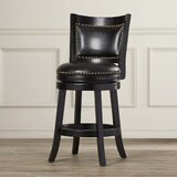 Carstensen Bar & Counter Swivel Stool by Darby Home Co