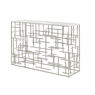 Worlds Away Abstract Console Table