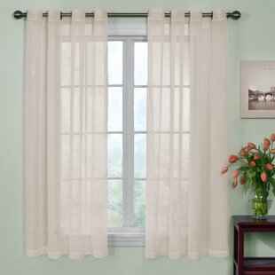 Odor Neutralizing Voile Solid Sheer Grommet Single Curtain Panel by Arm & Hammer™ Curtain Fresh™