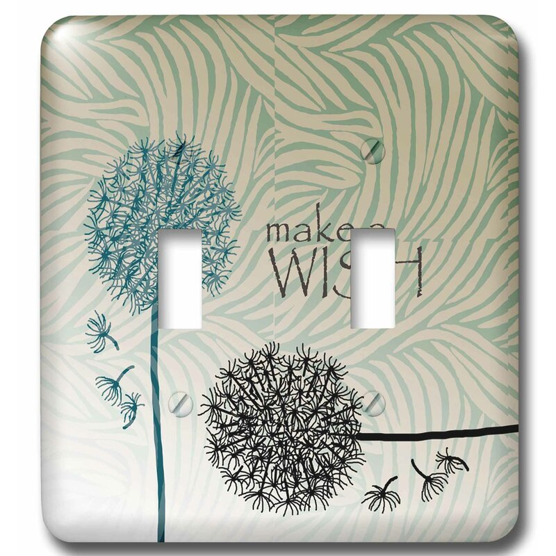 3drose Inspired Make A Wish Dandelion Flowers 2 Gang Toggle Light Switch Wall Plate Wayfair