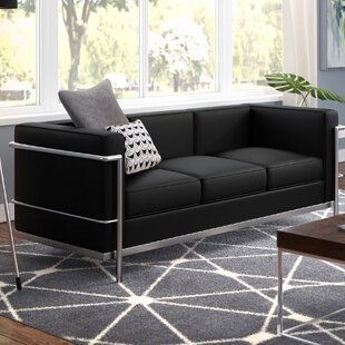 Burnside Leather Sofa by Wade Logan Cheap