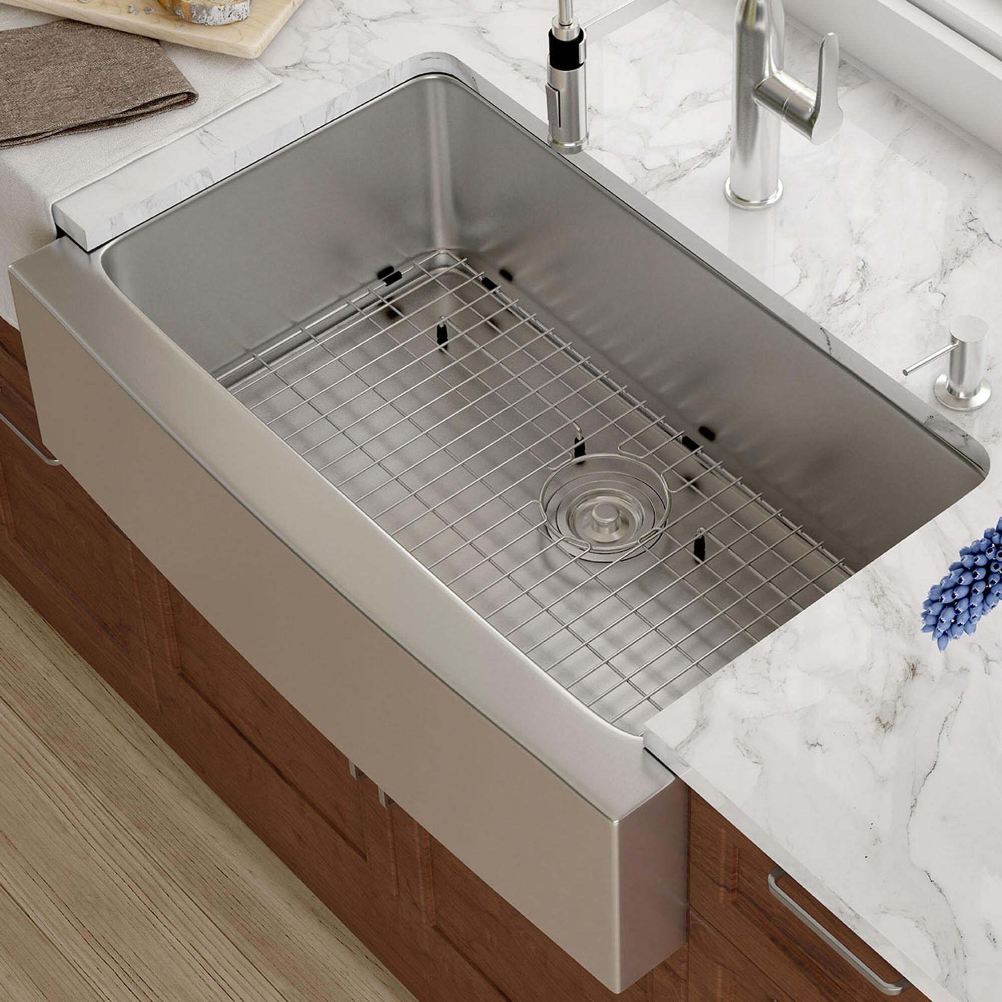 Kraus 33 x 21 farmhouse kitchen sink with drain assembly reviews kraus 33 x 21 farmhouse kitchen sink with drain assembly reviews wayfair workwithnaturefo