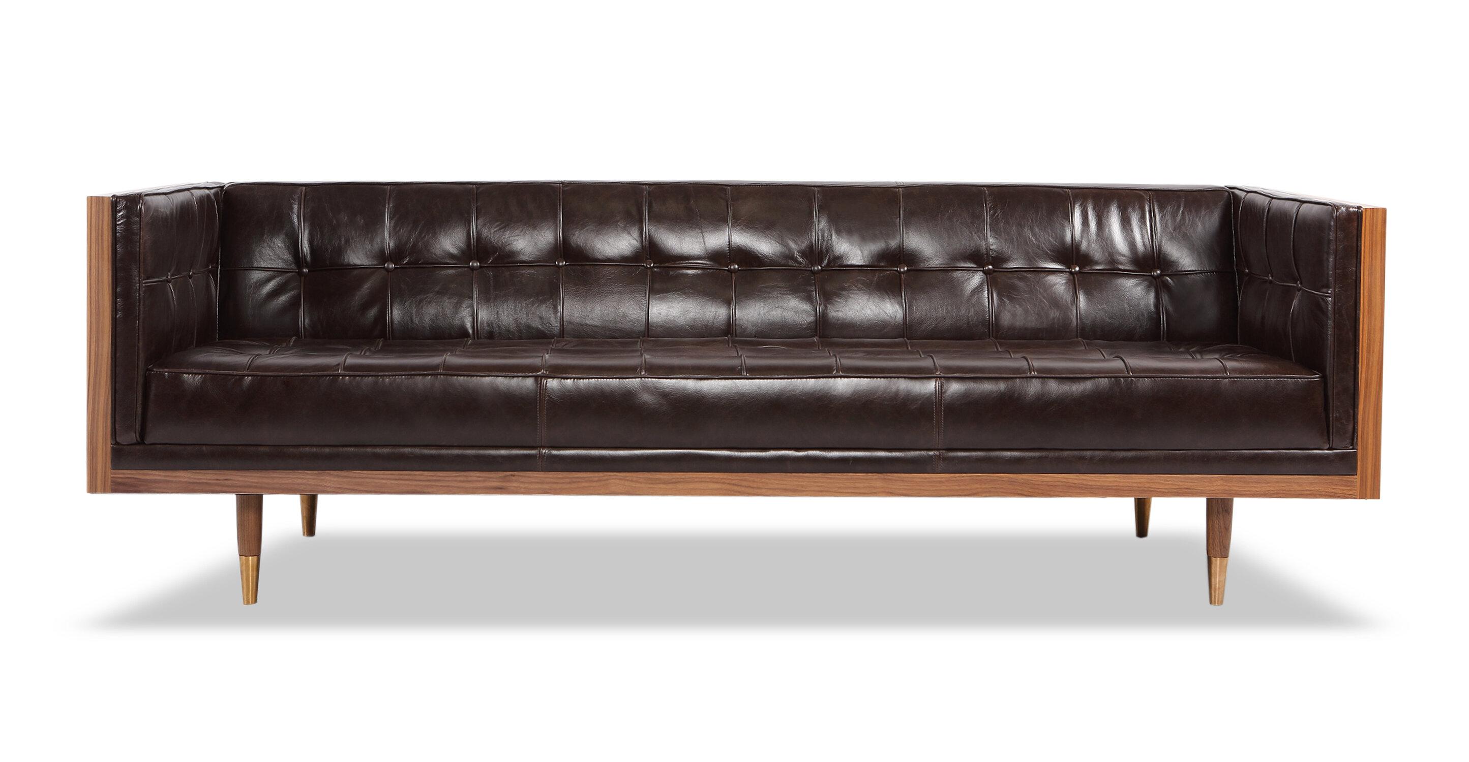 Ledger Leather Chesterfield Sofa & Reviews | AllModern