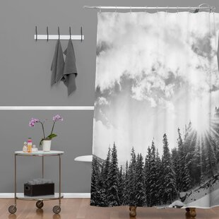 Bird Wanna Whistle Mountain Extra Long Shower Curtain by Deny Designs