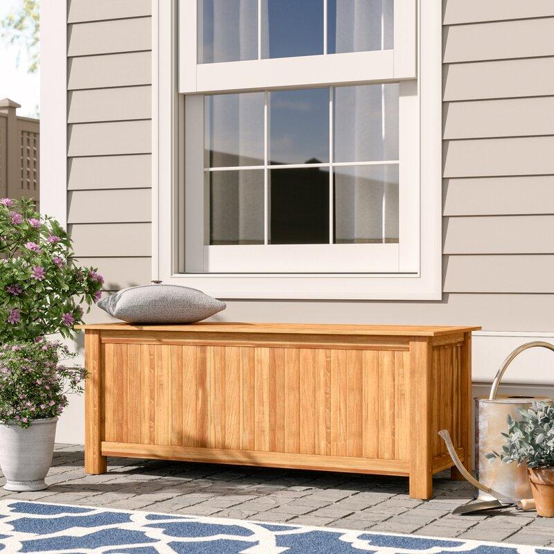 Beau Birch Lane™ Heritage Summerton 60 Gallon Teak Deck Box U0026 Reviews | Birch  Lane