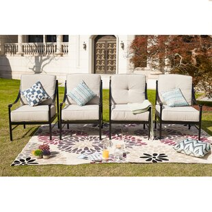 Ritchie Lounge Patio Chair with Cushions (Set of 4)