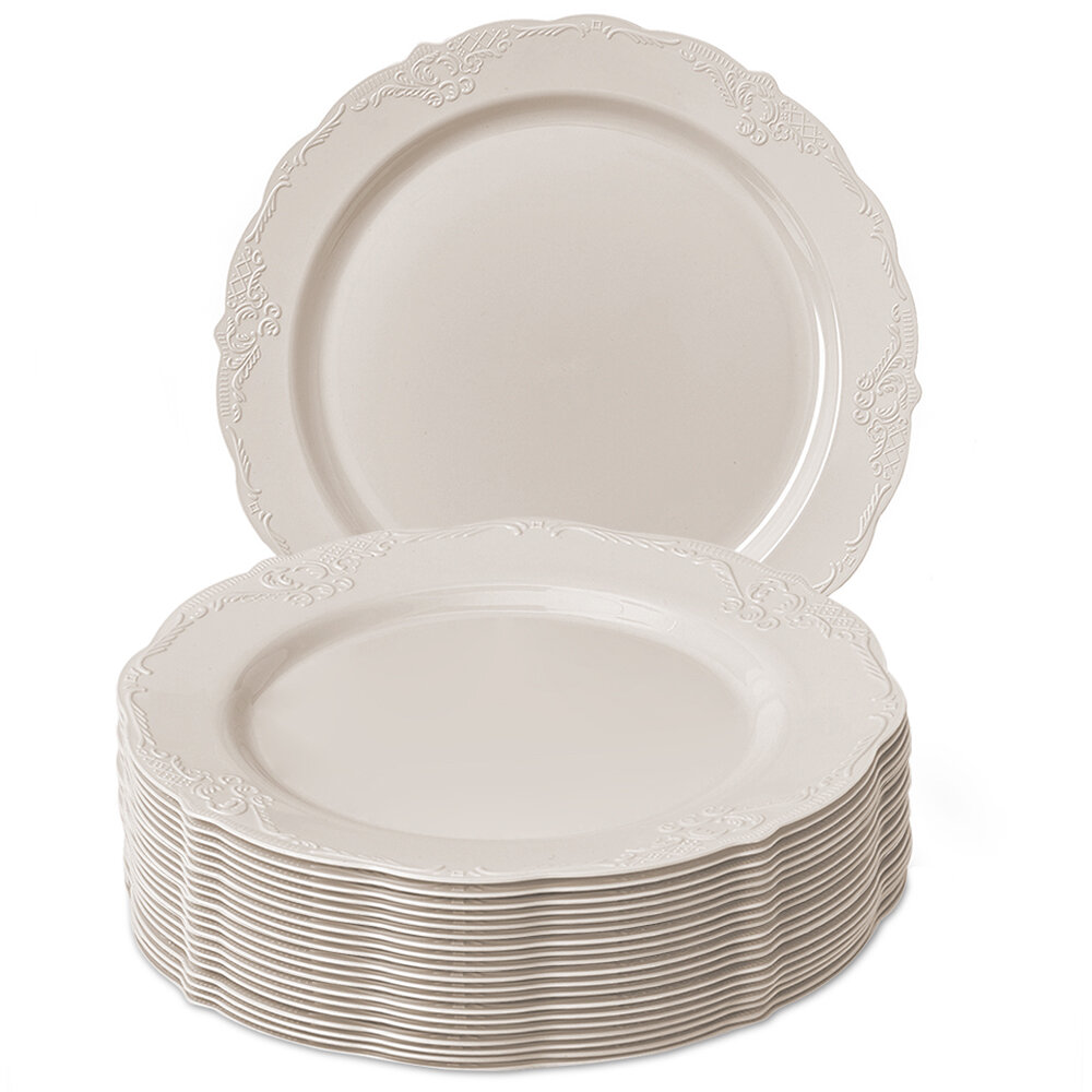 Silver Spoons Heavy Weight Plastic Disposable Salad Plate Wayfair