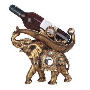 Glenaire Thai Elephant 1 Bottle Tabletop Wine Bottle Holder by