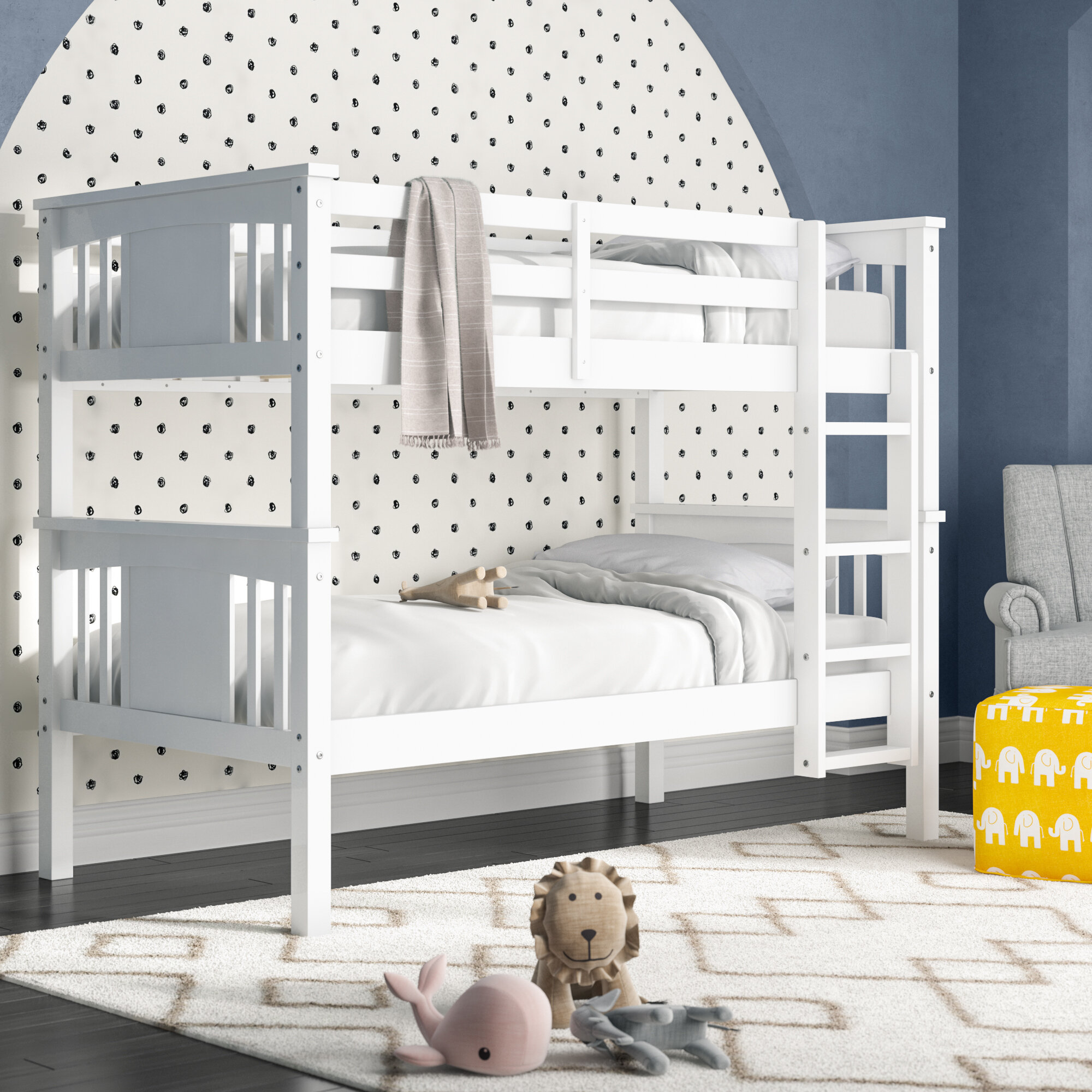 Picture of: Viv Rae Alimi Twin Over Twin Bunk Bed Reviews
