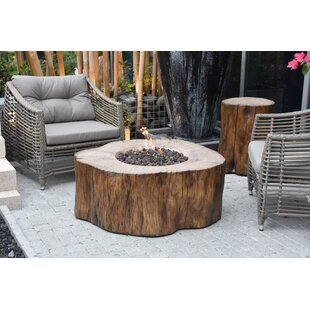 Iron Concrete Gas Fire Pit Table