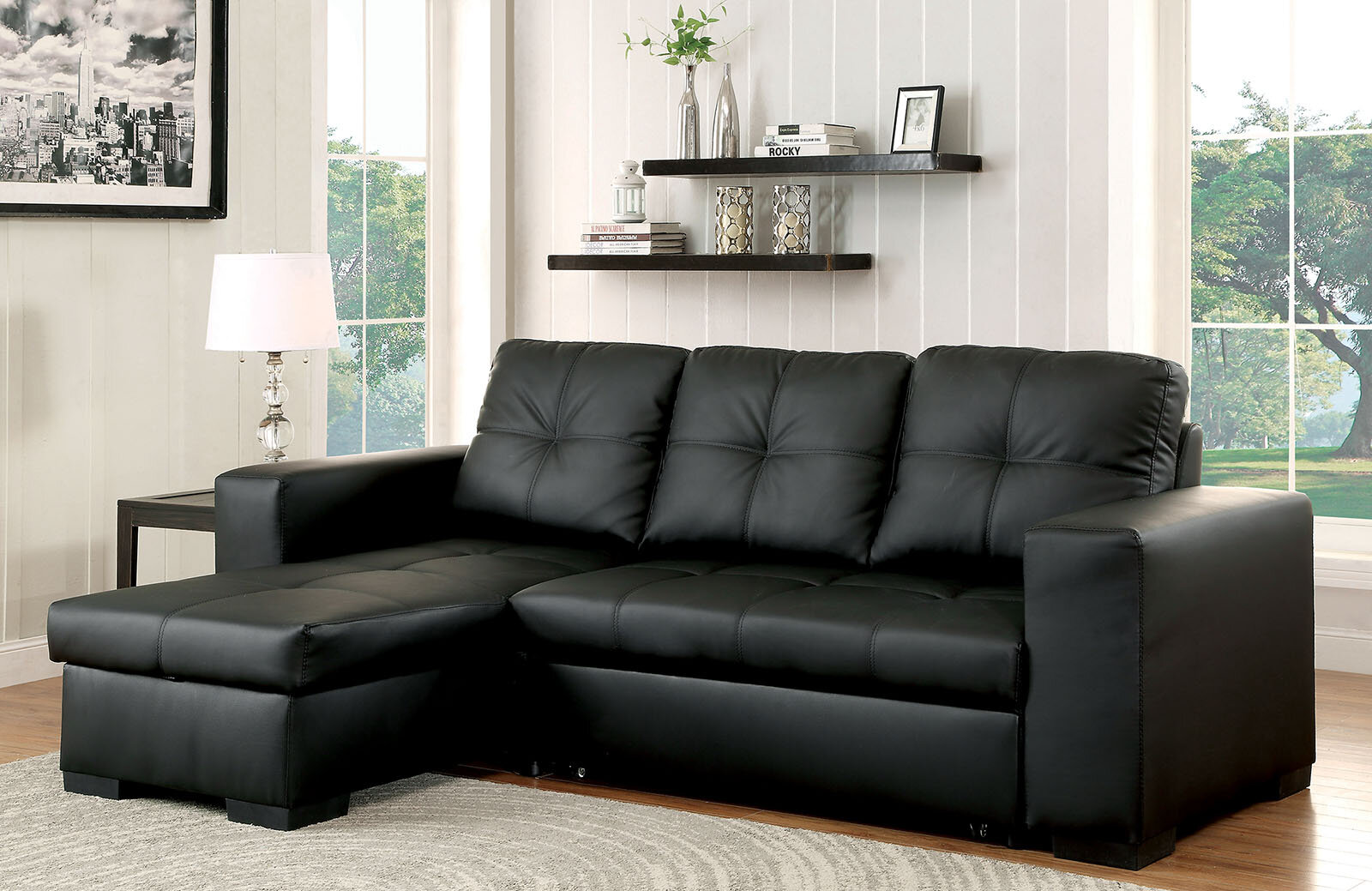 Three Posts Gussie Sleeper Sectional & Reviews | Wayfair