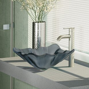 Glass Specialty Vessel Bathroom Sink with Faucet by René