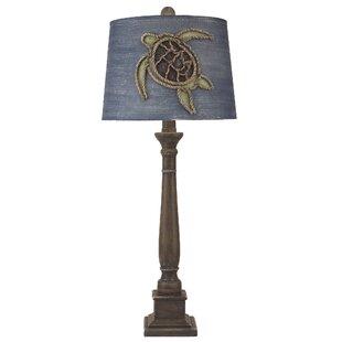 Sutton Square Candlestick Pot 33 Table Lamp