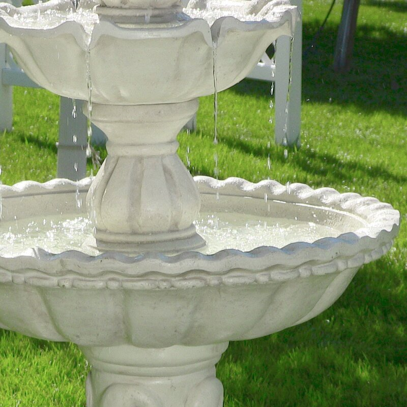Fiberglass Welcome 3 Tier Garden Fountain