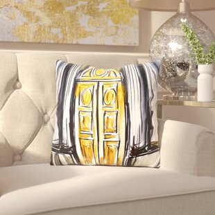 Albany Versailles Doors 1 Throw Pillow by House of Hampton