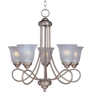 Norwood 5-Light Shaded Chandelier by Three Posts
