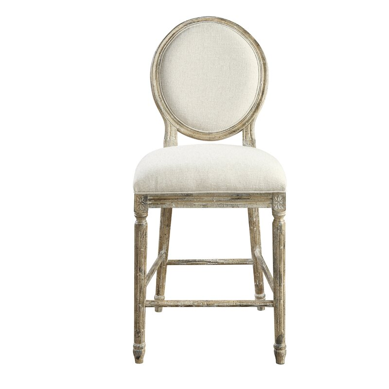 "Bedard 24"" Counter Height Stool. French Country Furniture Finds. Because European country and French farmhouse style is easy to love. Rustic elegant charm is lovely indeed."
