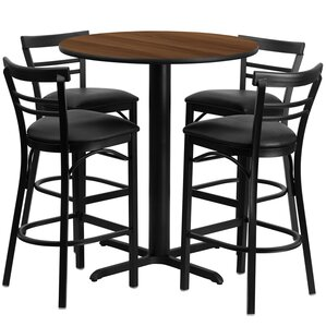 Brodeslavy 5 Piece Pub Table Set by Latitude Run