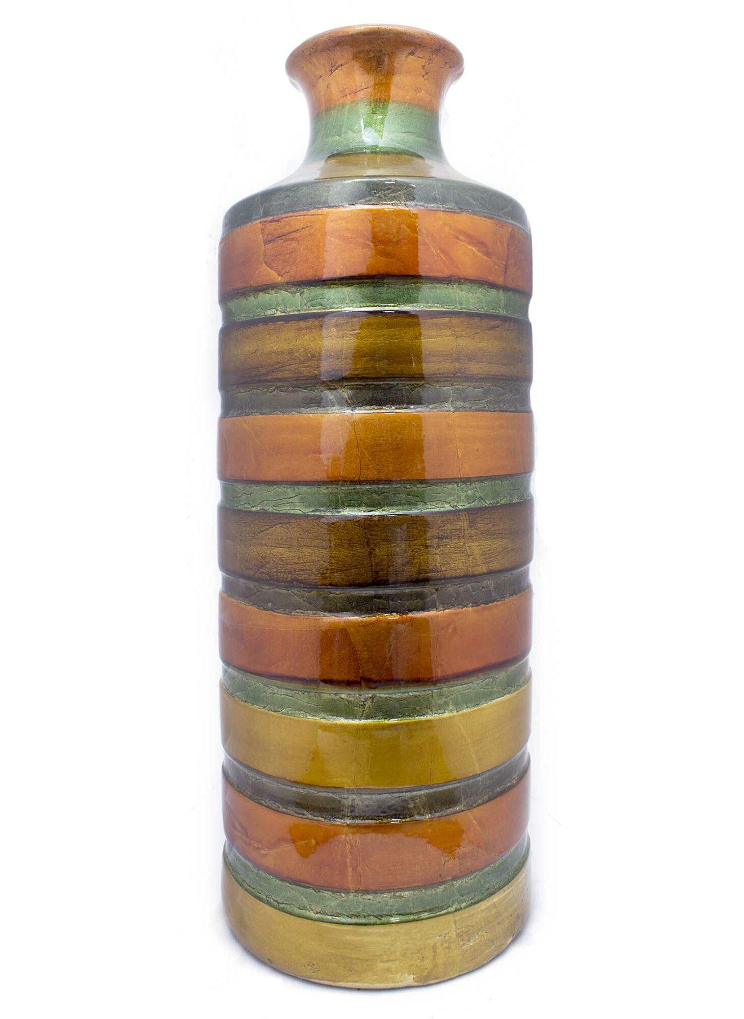 Bloomsbury Market Radegonde Ceramic Foiled And Lacquered Floor Vase Wayfair