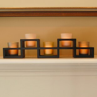 5 Piece Glass Votive Holder Set