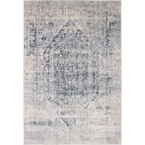 Abbeville Gray/Dark Blue Area Rug