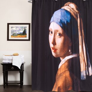 Fabric Single Shower Curtain with Van Gogh Series