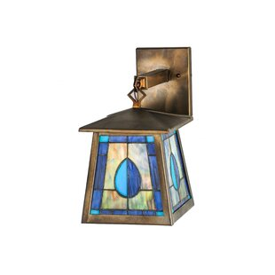 Bargain 1-Light Outdoor Wall Lantern By Meyda Tiffany