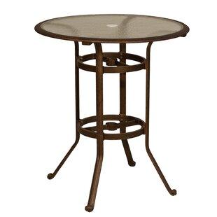 Fleur De Lis Living Ross Glass Bar Table