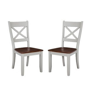 Benedetto Solid Wood Dining Chair (Set of 2) Gracie Oaks