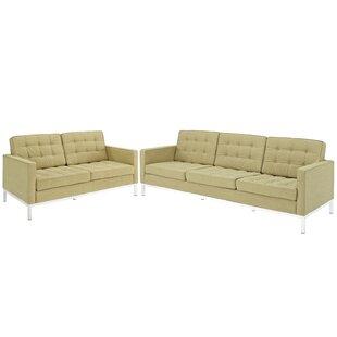 Gayatri 2 Piece Living Room Set