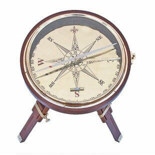 Compass End Table by Handcrafted Nautical..