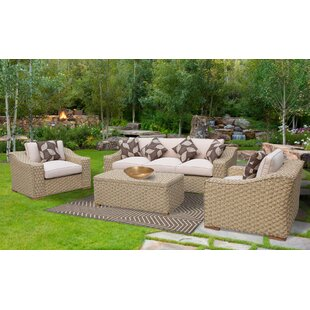 Dutil 4 Piece Rattan Sofa Set With Cushions by Brayden Studio Today Only Sale