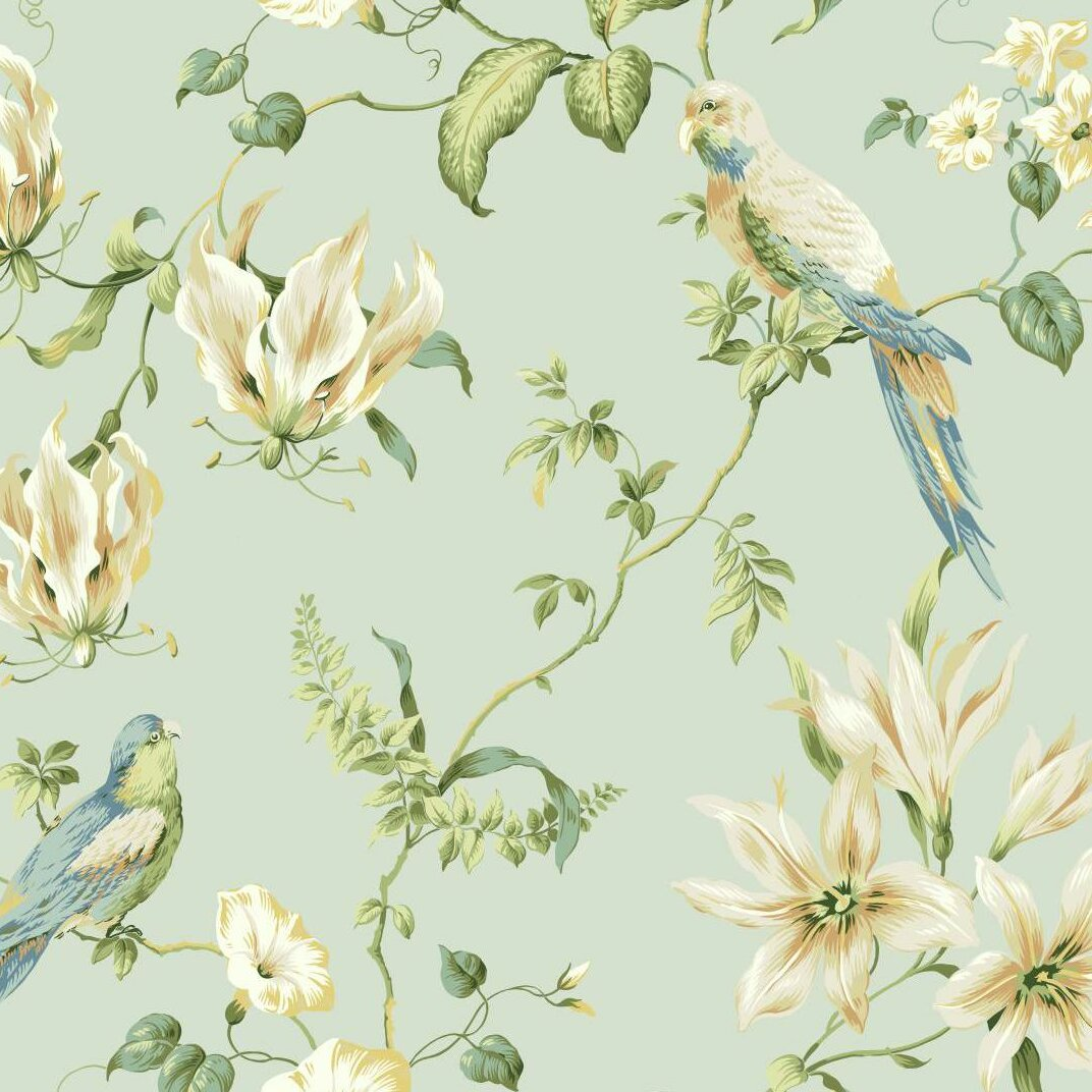 York Wallcoverings Casabella Ii Tropical 27 X 27 Floral And