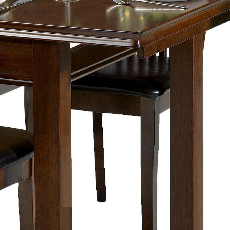 Three Posts Essgruppe Remsen mit ausziehbarem Tisch und 4 Stühlen ...