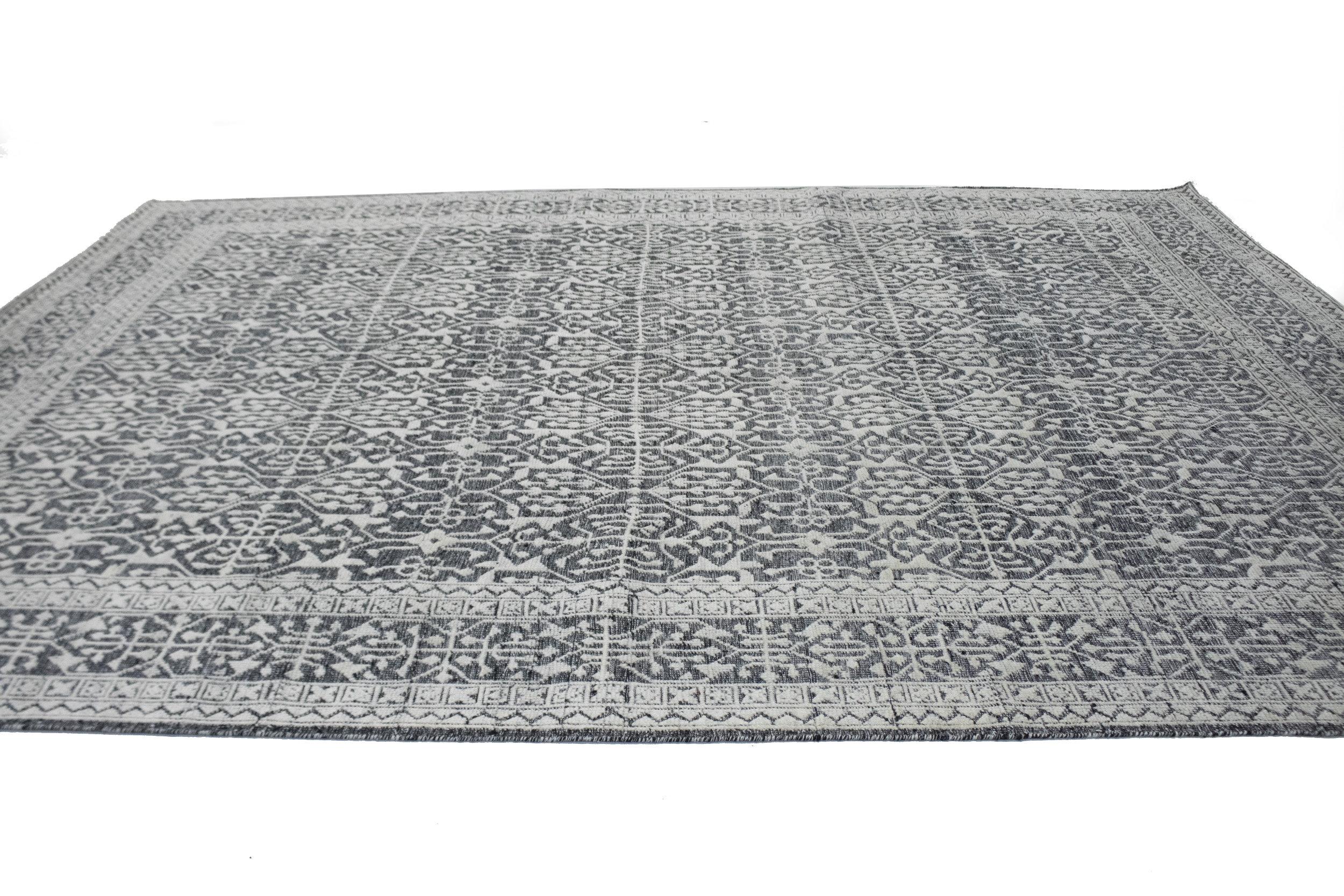 Adminrugs Oriental Hand Knotted Wool Charcoal Area Rug Wayfair