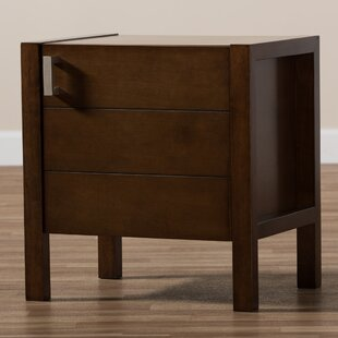 Matz Wooden Drawer Nightstand by Red Barrel Studio