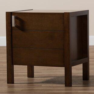 Matz Wooden Drawer Nightstand by Red Barrel Studio