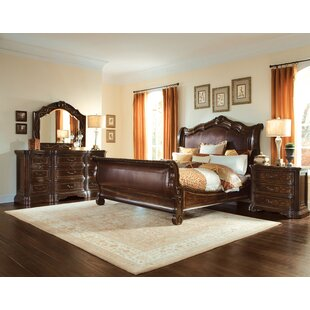 Astoria Grand Evelyn Sleigh Configurable Bedroom Set