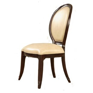Eastern Legends Mid Town Genuine Leather Upholstered Dining Chair (Set of 2)