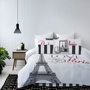 Bye Paris Reversible Comforter Set
