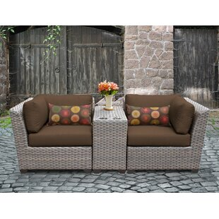 Florence 3 Piece Conversation Set with Cushions ByTK Classics